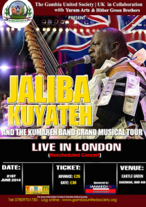 Jaliba Set To Thrill Gambia Gambians In UK Mega Concerts
