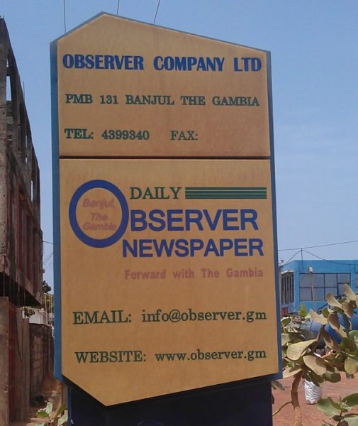 Daily Observer Closed Down