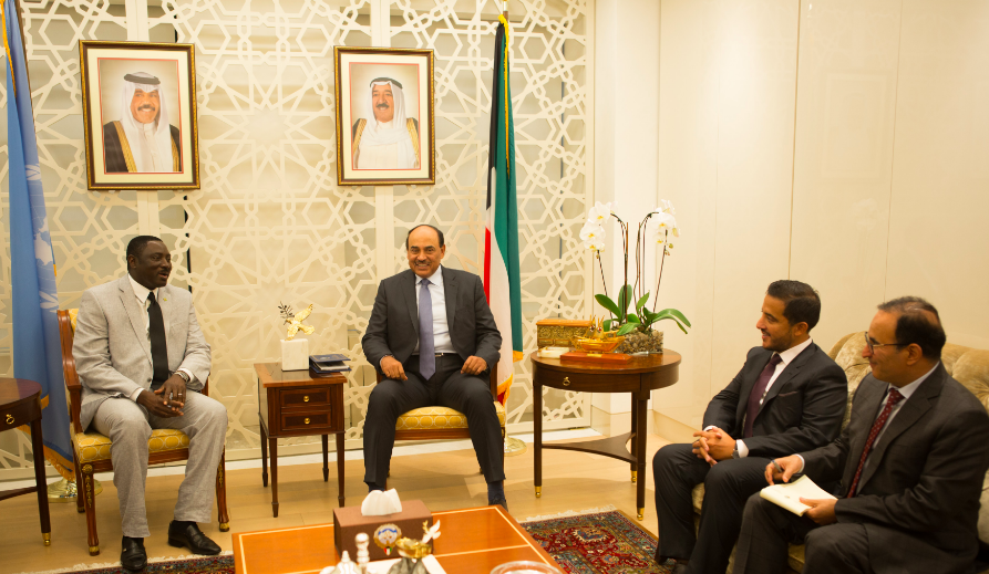 Minister Tangara Meets Kuwait Deputy Prime Minister, Presides at UN General Assembly