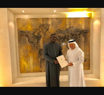 Dr. Tangara Delivers President Barrow's Special Message To UAE President